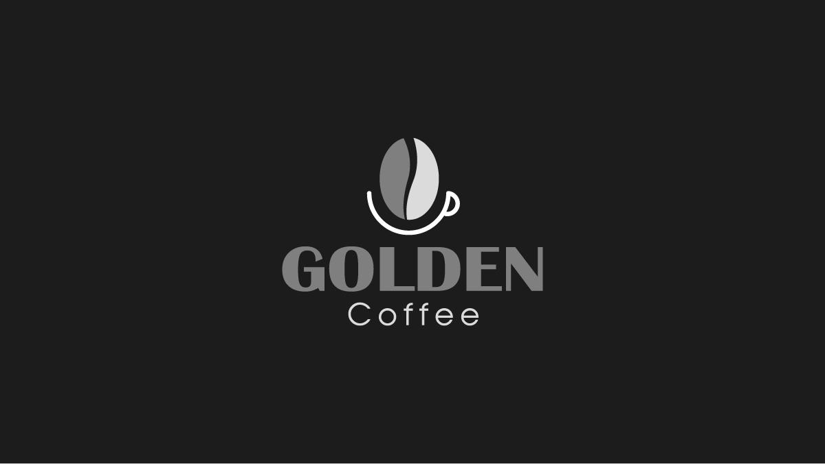 Thiết kế logo thương hiệu Golden Coffee 2