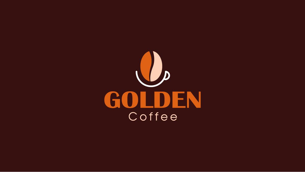 Thiết kế logo thương hiệu Golden Coffee 3