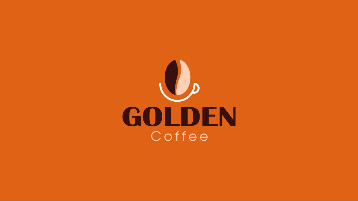 Thiết kế logo thương hiệu Golden Coffee 4