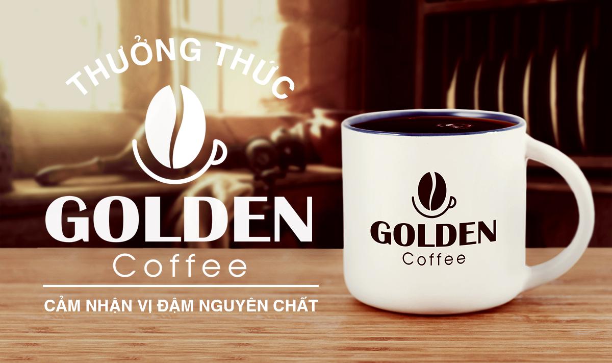 Thiết kế logo thương hiệu Golden Coffee 6