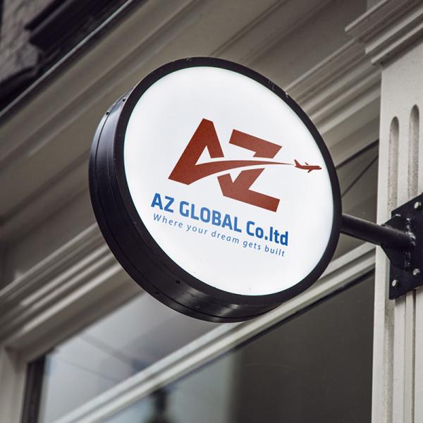 Thiết kế logo thương hiệu Du học AZ Global