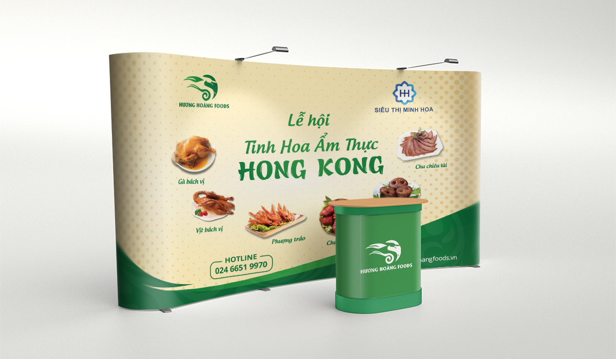 Thiết kế hệ thống nhận diện thương hiệu Hương Hoàng Foods