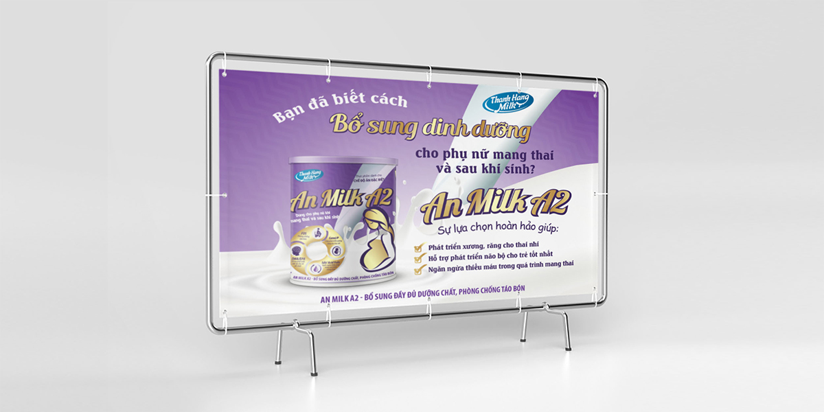 Thiết kế bao bì sữa bột An Milk