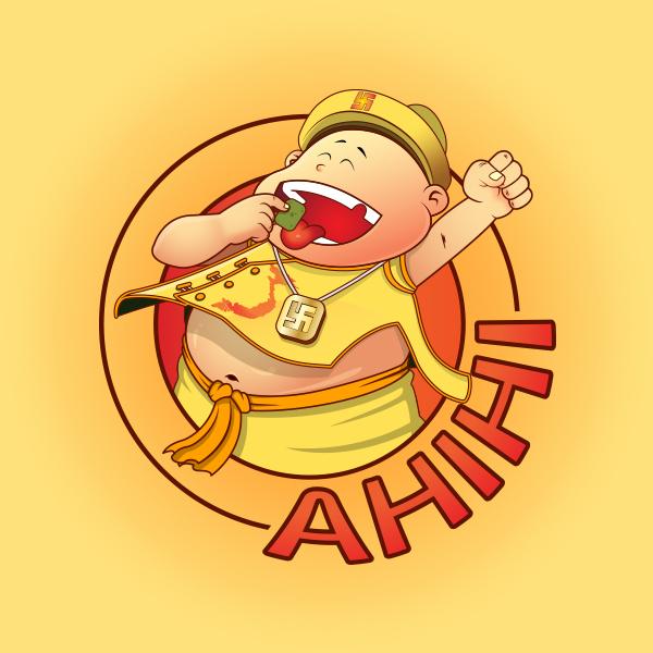 Thiết kế logo thương hiệu Snack Ahihi