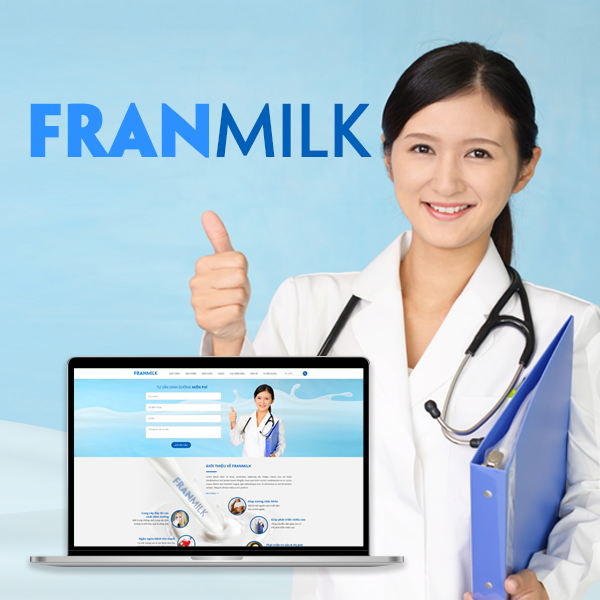 THIẾT KẾ WEBSITE HÃNG SỮA FRANMILK