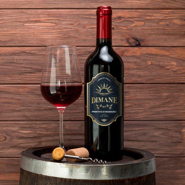 Thiết kế nhãn sản phẩm Rượu Dimane