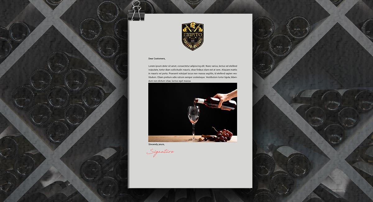 Thiết kế nhãn sản phẩm Rượu Empito
