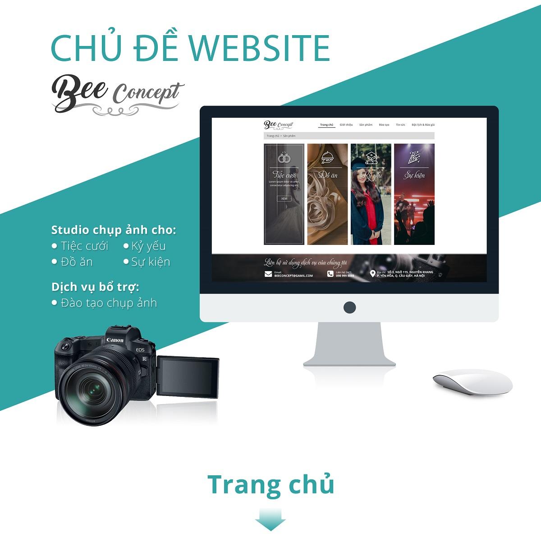 THIẾT KẾ WEBSITE STUDIO BEECONCEPT